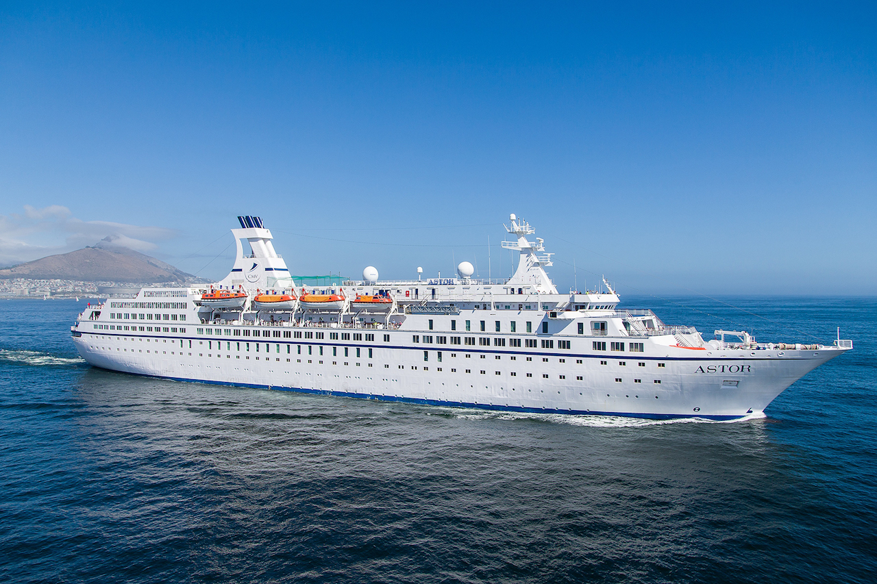 Astor in Cape Town - Image courtesy Cruise and maritime